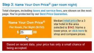 Priceline Hotel Savings - Minimum price for star rating and zone.