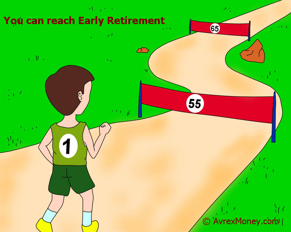 Financial Freedom before 65. Retire Early Retirement.